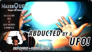 getlinkyoutube.com-Abducted by a UFO! LEAP Motion + Oculus Rift DK2 Video Walkthrough! (MazerQuest v1.0)