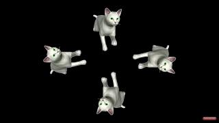 """3D - голограмма """"Весёлые животные"""" / видео для 3d-пирамиды"""