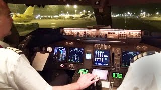 getlinkyoutube.com-Boeing 747-400 Take-Off & Start-Up Hong Kong w/ ATC - KLM Cargo