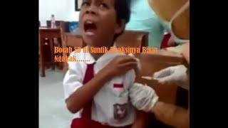 Video Lucu Kids Jaman Now.... SD Di Suntik Bikin Ngakak 😭 Lucu Banget