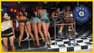 getlinkyoutube.com-Pattaya Thailand Soi 6.  Night Girls and Ladyboys waiting for Custome.
