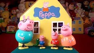 getlinkyoutube.com-Новый домик Свинки Пеппы мультик из игрушек + обзор на русском