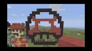 getlinkyoutube.com-Minecraft XBOX 360: Dibujando un Hongo (Mario bros) Pixel Art