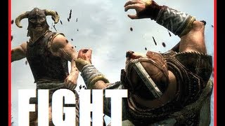 How to create a fight in Skyrim