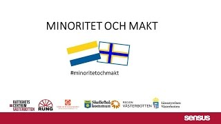 MINORITET OCH MAKT - introduktion