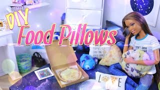 DIY - How to Make: Pinterest Craft Food Pillows - Dollhouse Accessories - Doll Crafts - 4K