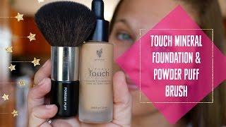 getlinkyoutube.com-MAGIC TRICK || Younique's Touch Liquid to Powder Foundation || Powder Puff Brush || The Lash Babe