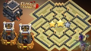 getlinkyoutube.com-Th9 War Base 2016 With Bomb Tower New Update Anti 3 Star/Anti 2 Star Anti Everything Anti Valkyrie