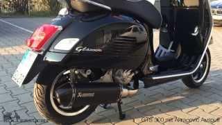 getlinkyoutube.com-Piaggio Vespa GTS 300 Super Akrapovic Auspuff - Rollersucht