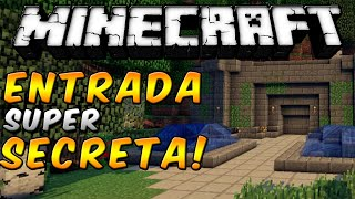 getlinkyoutube.com-Minecraft - Como hacer una entrada super ESCONDIDA! (SECRETA) - ESPAÑOL TUTORIAL