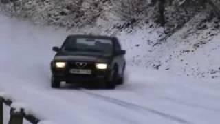 getlinkyoutube.com-Alfa Romeo 75 Twin Spark ice Snow EXT.mov