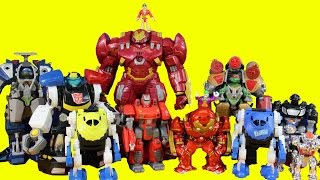 getlinkyoutube.com-Imaginext Robot Wars Episode 6 TMNT Hulkbuster Batman Joker Rescue Bots Chase Shredder