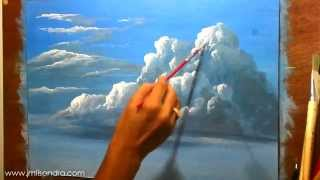 getlinkyoutube.com-How to Paint Clouds in Acrylic - Instructional Painting Lesson by JM Lisondra