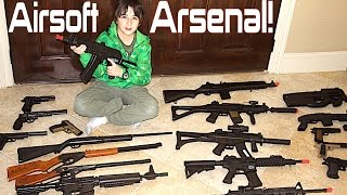 getlinkyoutube.com-Airsoft and BB gun Arsenal with Robert-Andre!