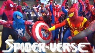 getlinkyoutube.com-Spider-Man: SPIDER-VERSE Wreaks Havoc at MEGACON! Epic Flash Mob Invasion!