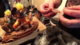 getlinkyoutube.com-MRC dragonball Z saiyans diorama statue unboxing
