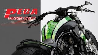 "getlinkyoutube.com-Harley-Davidson V-Rod ""Neon Black"" by Pega Custom Cycles | MotorBike Muscle CustomBike"