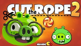 getlinkyoutube.com-Bad Piggies - Cut The Rope 2 Gameplay Walkthrough All Levels
