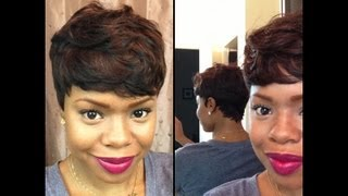 getlinkyoutube.com-Short and Sassy - Custom 27 Piece Wig