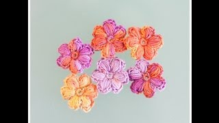 getlinkyoutube.com-Tuto : Comment faire une jolie fleur gonflée au crochet