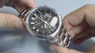 getlinkyoutube.com-Men's Citizen Eco-Drive Radio-Controlled Chronograph Watch AT8010-58E