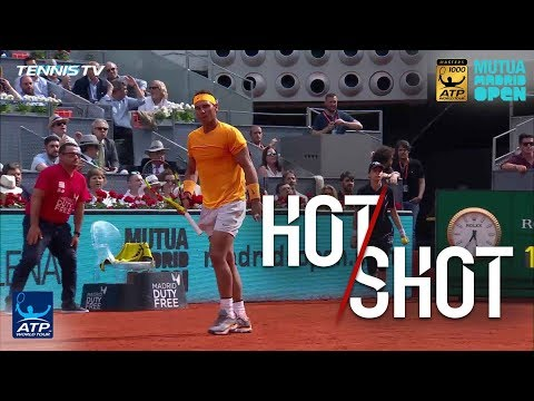 Hot Shot: Nadal Reaches For Winner Against Monfils