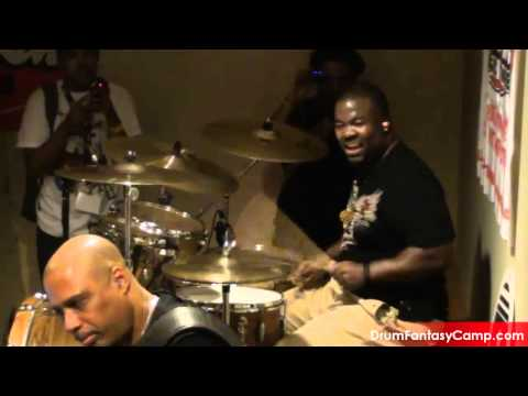 Dave Weckl and Chris Coleman at Drum Fantasy Camp 2011