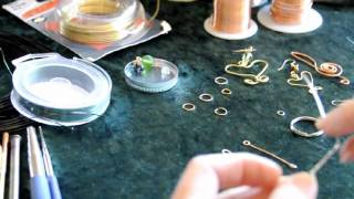 getlinkyoutube.com-HOW TO BEGIN BASIC WIRE WRAPPING AND JEWELRY MAKING  #2,