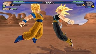 getlinkyoutube.com-Trunks and Goku potaras Fusion in Super Saiyans (DBZ Budokai Tenkaichi 3 mod)