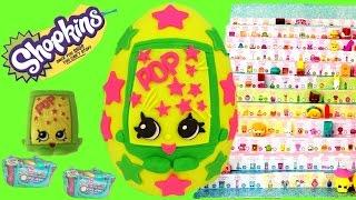 Shopkins Season 3 PopRock Play Doh Surprise Egg! 12 Pack and Blind basket Opening!