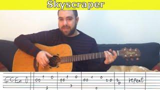 Fingerstyle Tutorial: Skyscraper - Guitar Lesson w/ TAB