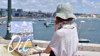 LENA RIVO Plein Air oil painting demonstration - REAL TIME