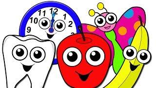"""""""Nursery School Songs Collection"""" - Kindergarten Preschool Video, Baby Toddler Learning, Kids Rhymes"""