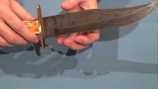 getlinkyoutube.com-Bear & Son Damascus American Bowie Model 502D