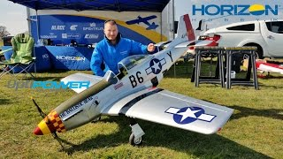 getlinkyoutube.com-HANGAR 9 P-51D MUSTANG 60cc ARF MAIDEN GIANT SCALE RC OPTIPOWER 50C ULTRA EP CONVERSION - 2016