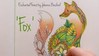 getlinkyoutube.com-Enchanted Forest - Johanna Basford; Fox