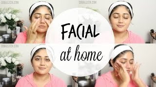 getlinkyoutube.com-How to do Facial at Home for Glowing Skin | corallista
