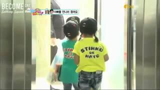 getlinkyoutube.com-baby hyunwoo n eunsol surprised B1A4 appa !