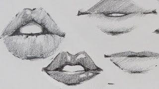 getlinkyoutube.com-How to Draw Lips - Traditional or Manga