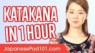 Learn ALL Katakana In 1 Hour   How To Write And Read Japanese