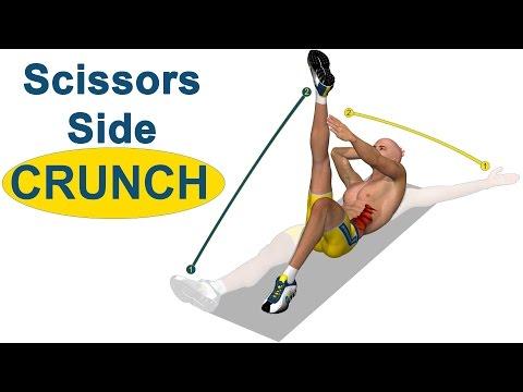 Abdominales oblicuos: Scissors Side Crunch