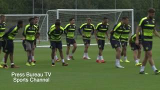getlinkyoutube.com-Arsenal Training pre PSG vs Arsenal