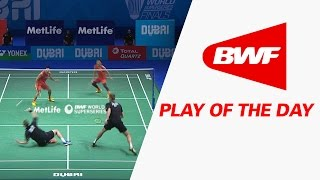 getlinkyoutube.com-Play Of The Day | Badminton SF2 - Dubai World Superseries Finals 2016