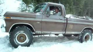 ford high boy in the snow