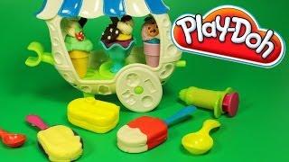 getlinkyoutube.com-Play Doh Sweet Shoppe Ice Cream Sundae Cart How to make Playdough Popsicle Ice Cream Cone