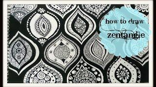getlinkyoutube.com-How to Draw a zen-tangle doodle