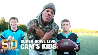 getlinkyoutube.com-Behind The Scenes With Cam's Kids   Super Bowl Live   NFL