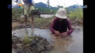 Cara Nenek Ini Mendulang Emas di Sungai