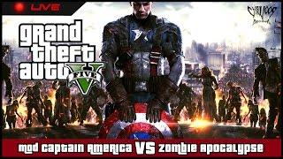 getlinkyoutube.com-[LIVE] GTA V Mod Captain America V VS Zombie Apocalypse : ตอน สุภาพหน่อย!