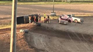getlinkyoutube.com-I96 Speedway Night of Destruction Spectator Drag Race Rollover